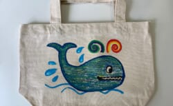 (終了しました)水溶性チョークでオリジナルデザインのエコバッグをつくろう!
