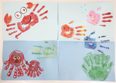 【先着順で受付中】水溶性チョークで手形アートの夏の思い出をつくろう!
